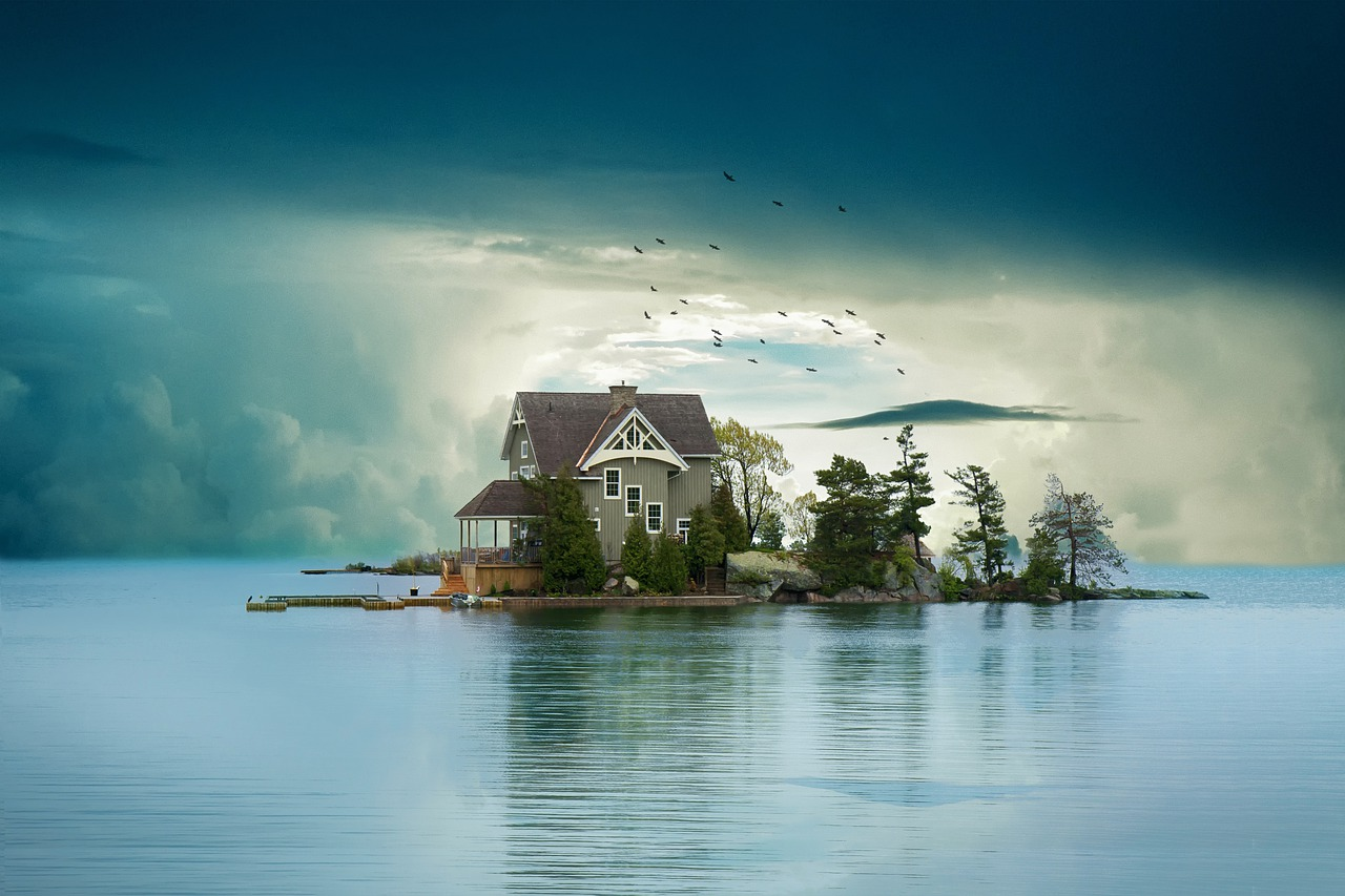 domek na wyspie